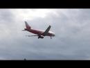 Посадка Airbus A319 ак Rossiya во Внуково