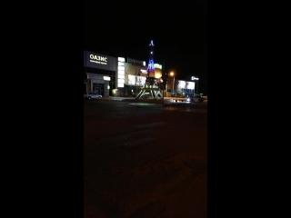 Эльфелева башня в Кропоткине ночью