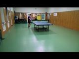 Новогодний турнир по настольному теннису.мужчины.финал.Ковенко Павел - Милкин Олег