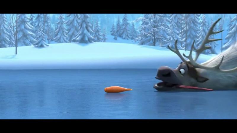 Улетный мульт про снеговика и лося)
