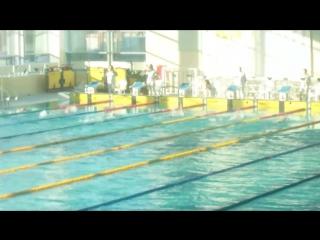 200 М на спине .3 место , девочки 2003-2004 г .  1 часть