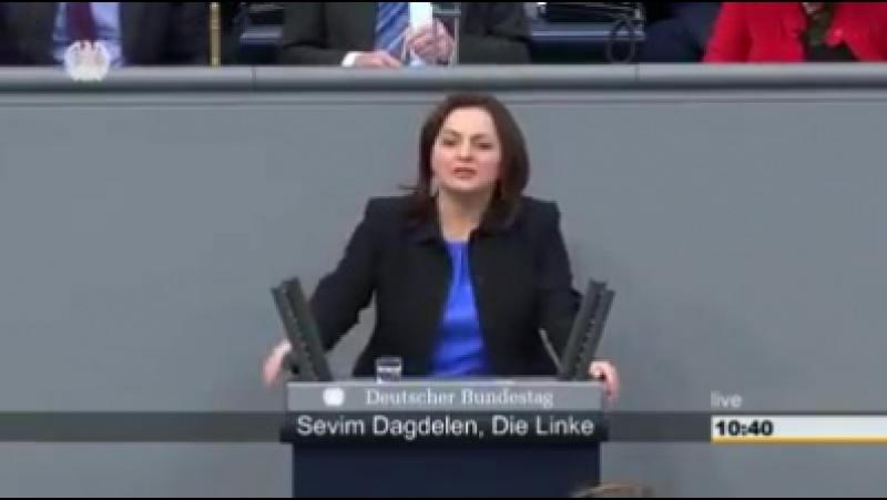 Eine tolle Rede von Linken-Politikerin Sevim Dağdelen