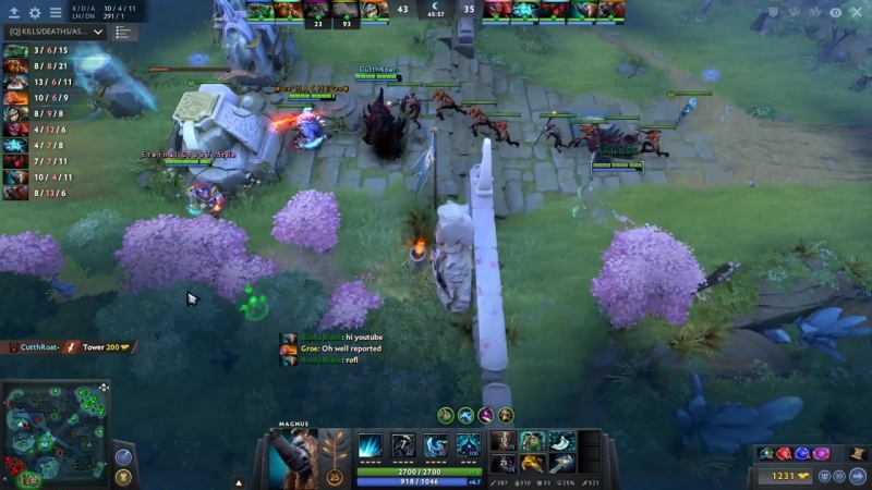 New Fountain SKEWER - BUG in Dota 2 ! 7.00 patch