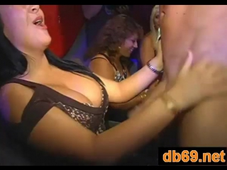 Girls go crazy for the dancing bear crew - party porn