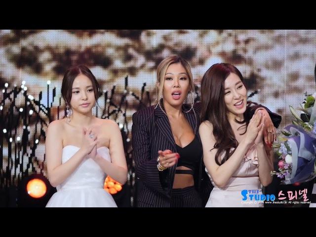 161224 소녀시대 티파니 민효린 제시 직캠 박진영 수상 응원 SNSD TIFFANY fancam (KBS 연예대상) by Spinel