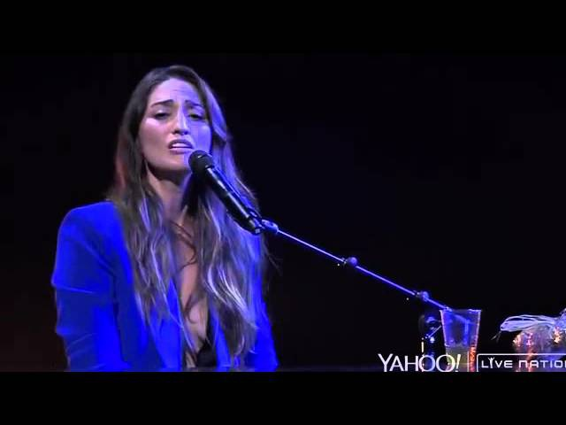 Sara Bareilles Sittin' on the Dock of the Bay cover Yahoo Live Concert 05 11 15