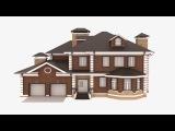 3D Private House ( Индивидуальный жилой дом ) для turbosquid.com