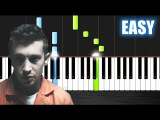 twenty one pilots Heathens (from Suicide Squad) - EASY Piano Tutorial by PlutaX