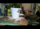 Мастер класс Декорирую цветочный горшок Декупаж