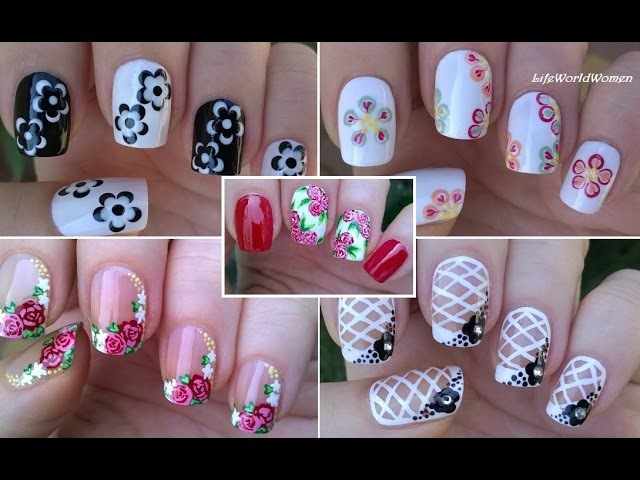 NAIL ART COMPILATION 3 - Floral Nails LifeWorldWomen