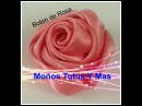 BOTON DE ROSA Paso a Paso RIBBON ROSE BUD Tutorial DIY How To PAP Video 22
