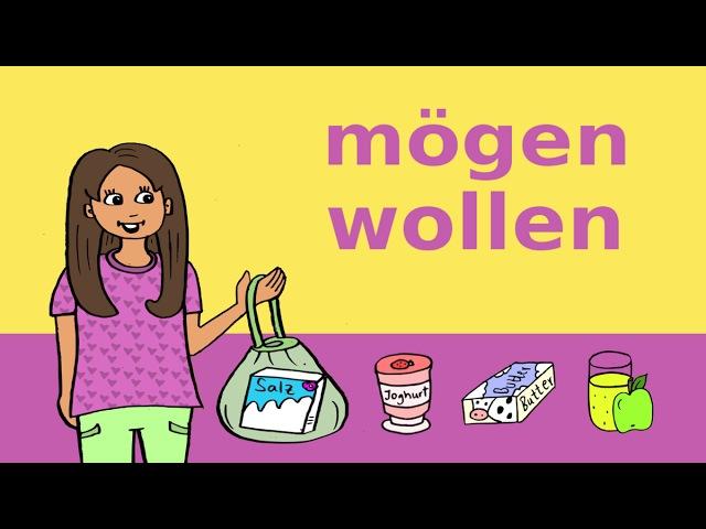 Deutsche Modalverben: mögen, möchten wollen Essen Trinken – German for children