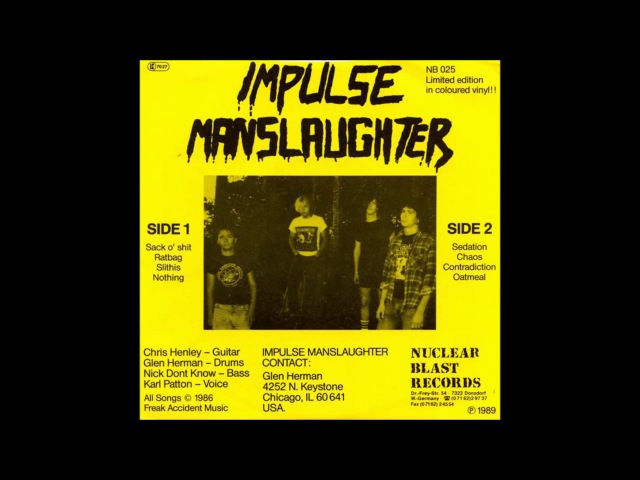 IMPULSE MANSLAUGHTER Burn Naked And Nude It EP
