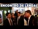 Bolsonaro encontra Sérgio Moro no Aeroporto