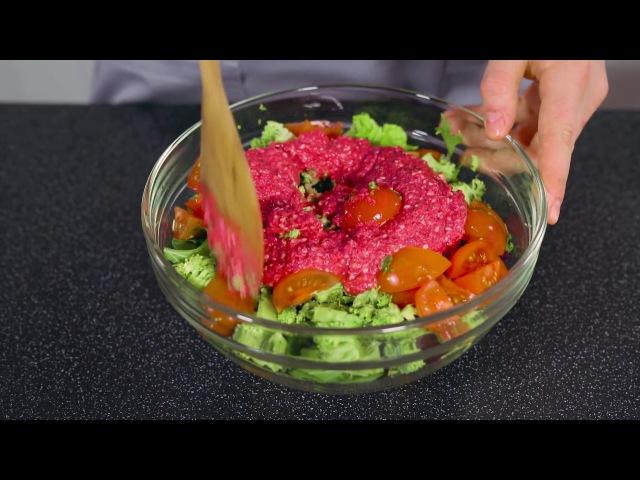 Салат из свежих овощей и зелени   Веган-гурман
