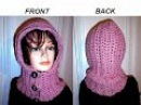 HOW TO CROCHET A HOODIE, BUTTON UP Hood, diy button loops, quick beginner easy project.