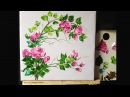 How to Paint Roses in Acrylics with Palette Knife lesson 4