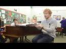 Ed Sheeran visits his former music teacher in Suffolk
