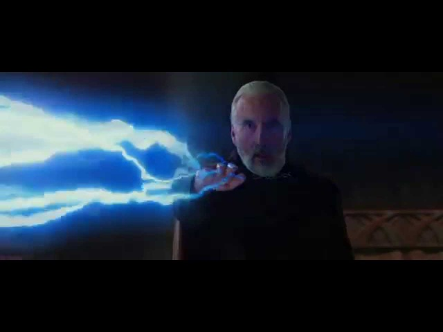 Count Dooku Really Likes Force Lightning