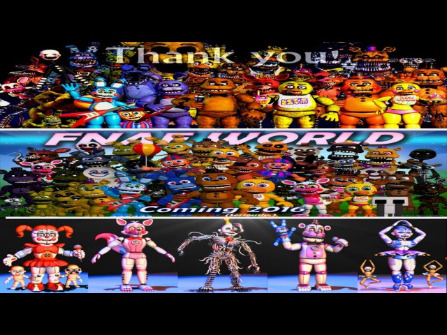 Five Nights at Freddy's 1 2 3 4 World, Sister Location All Animatronics [EXTRAS]