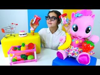 İngilizce oğreniyoruz. Pinkie Pie İngiliz Dükkanıda meyveler satın alıyor. #eğiticivideo