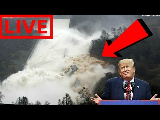 2/19/17 LIVE STREAM: OROVILLE DAM SPILLWAY IMMINENT FAILURE LIVE COVERAGE - SHOCKING FOOTAGE