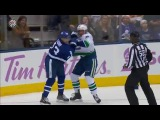Toronto Maple Leafs vs. Vancouver Canucks FULL Line Brawl- Old Time Hockey - November 5th, 2016