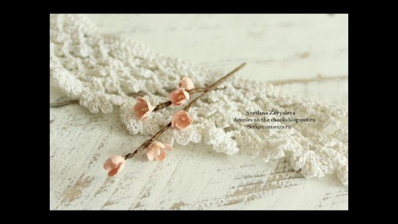 Цветы для скрапбукинга своими руками/Paper flowers tutorial