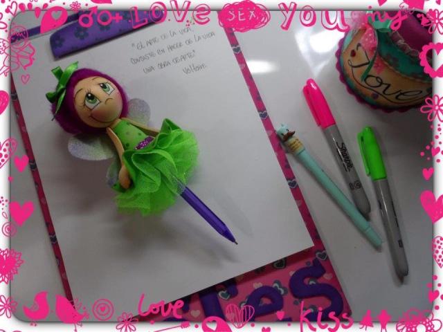 ¡Hada decorativa para bolígrafo en foamy! 💕 Art Foamy Creative 💕