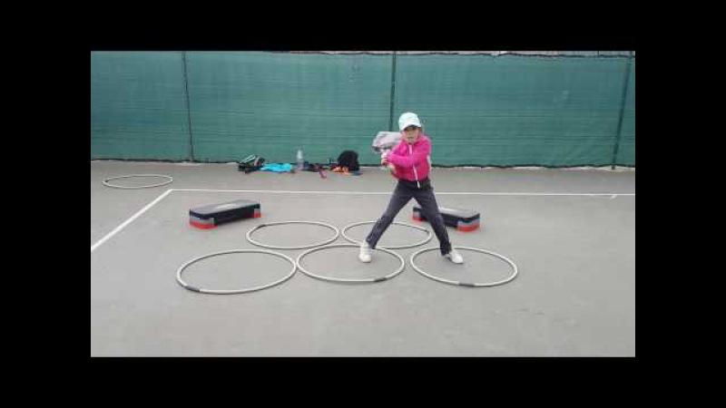 Exercice combiné jeu de jambes ,appuis et renforcement