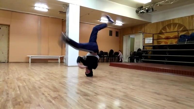 B boy Rafim headspin практика