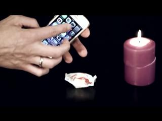 Секрет фокуса с конфетой и телефоном.