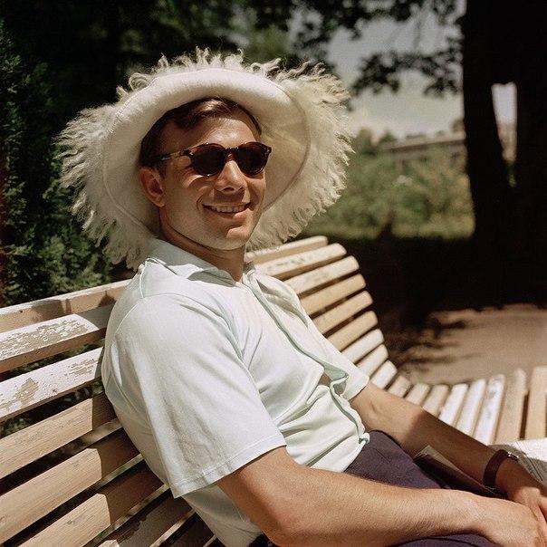 Юрий Гагарин на отдыхе, 1961 год.