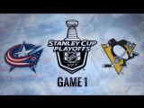 NHL 17 PS4. 2017 STANLEY CUP PLAYOFFS 100th FIRST ROUND GAME 1 EAST CBJ VS PIT. 04.12.2017.(NBCSN) !