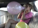 BALLOON POP, SEXI GIRL BLOW TO POP, SIT AND STOMP, Brandis Limo Balloon Party