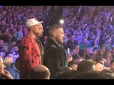 CONOR McGREGOR IN FULL VOICE RINGSIDE AS HE THROWS EVERY PUNCH WITH MICHAEL CONLAN IN NEW YORK