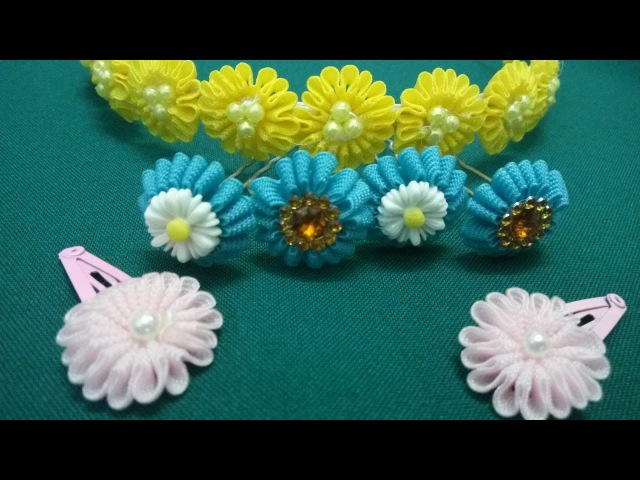 Весенний цветок из тесьмы зиг-заг. МК/DIY.