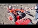 Мотоблок МТЗ-05 фрезеровка почвы .