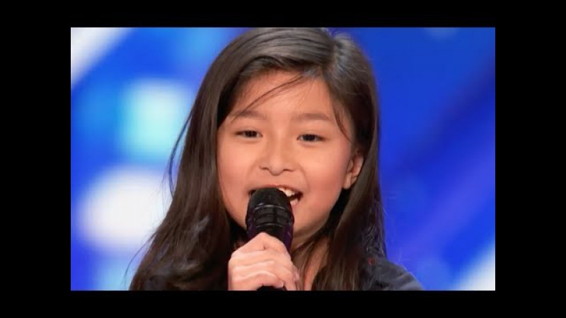 9 Y O Little Girl Shocks The Entire Stage with My Heart Will Go On Week 4 America's Got Talent