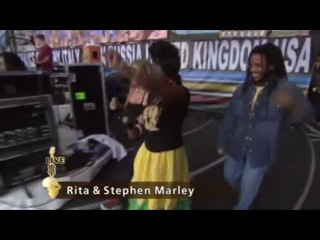 Black Eyed Peas with Rita Stephen Marley - Get Up, Stand Up (Live 8) (Promo Only)
