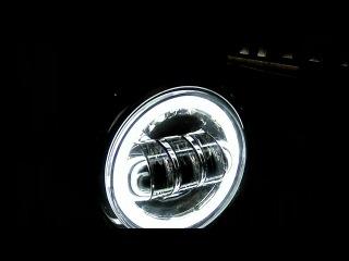 Ттех.рф Тяжелая Техника линзованные светодиодные фары 4.5 Harley Davidson, Hummer vk.com/tteh4x4
