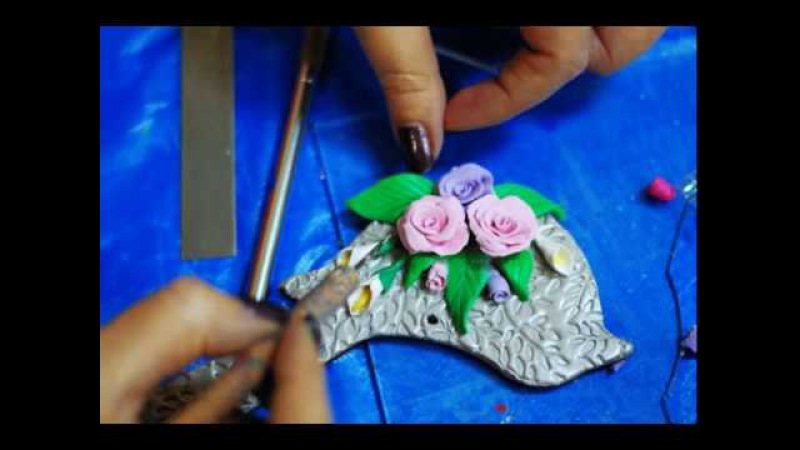 Результат новичка на мастер-классе Цветы из полимерной глины