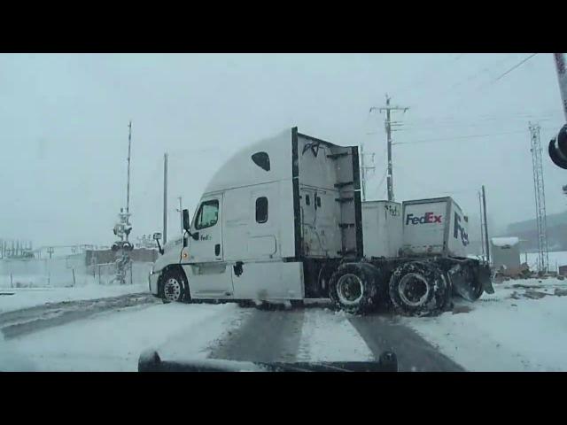 FedEx Truck Hit by Train in Utah