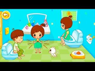 Малыш ОБКАКАЛСЯ и описался. Приучение к туалету - развивающий мультик игра для малышей