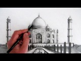 How to Draw the Taj Mahal Narrated Step by Step