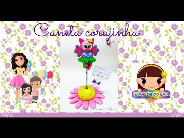 Aula Caneta Corujinha de Mesa - Prof Monise Tavares
