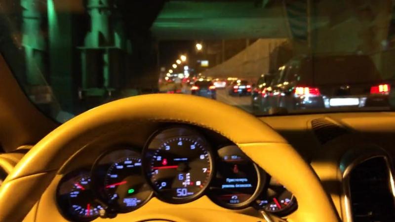 Шиич сильно не газуй 😂Катим по ночной Уфе Порш Каен Turbo S