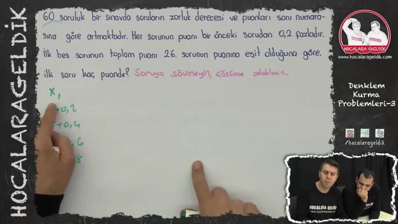 Denklem Kurma Problemleri -3 - YGS LYS LİSE - Matematik - Hocalara Geldik