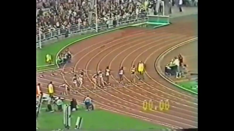 Олимпийские игры в Москве Лёгкая атлетика Женщины 100 метров Финал 1980