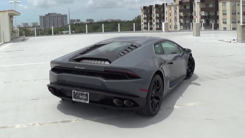 2017 Lamborghini Huracan LP610-4 Acceleration Downshifts Revs Interior at Lamb
